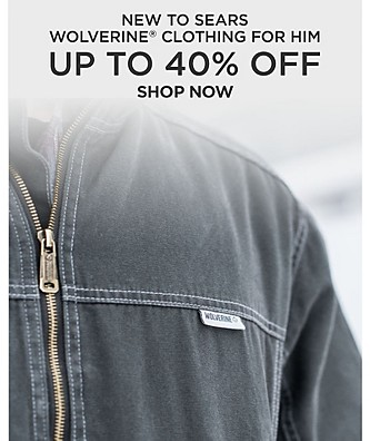 New to Sears. Wolverine Clothing for Him