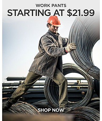 Work Pants Starting at $21.99