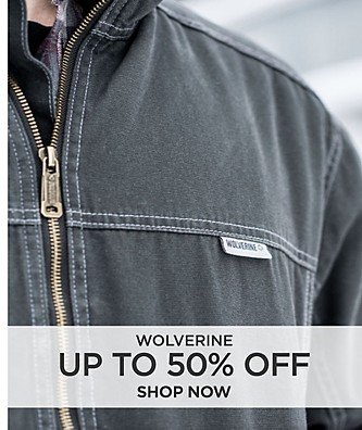Save up to 50% off Wolverine