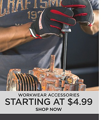 Workwear Accessories Starting at $4.99