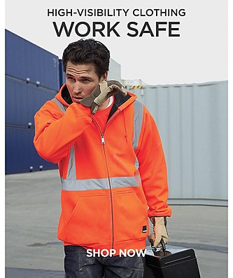 Work Safe. High Visibility Clothing.