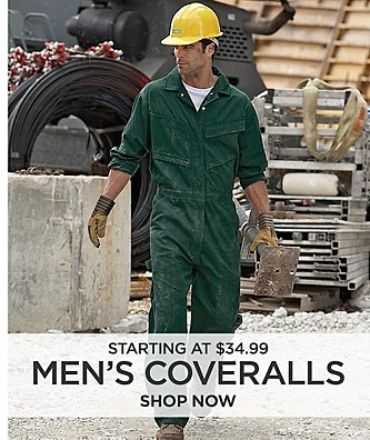Men's Coveralls starting at $34.99