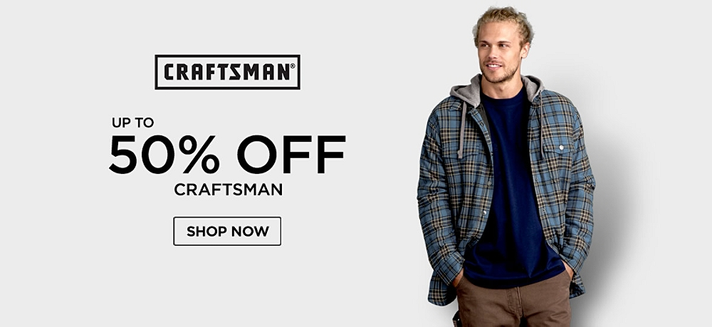 Up to 50% off Craftsman