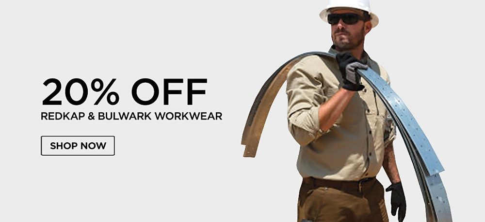 20% off Redkap & Bulwark Workwear. Shop now.