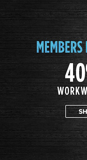 Members Private Night! 40% off Workwear for him. Shop now