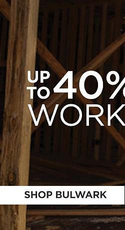 Up to 40% off Workwear. Shop Bulwark