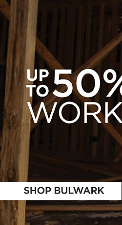 Up to 50% off Workwear. Shop Bulwark