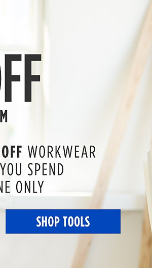Up to 50% off workwear for him + Get an extra 10% off workwear & uniforms when you spend $10 on tools online only. Shop Tools