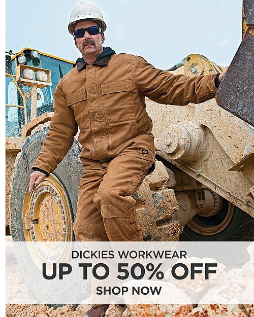 Up to 50% off Dickies Workwear. Shop now