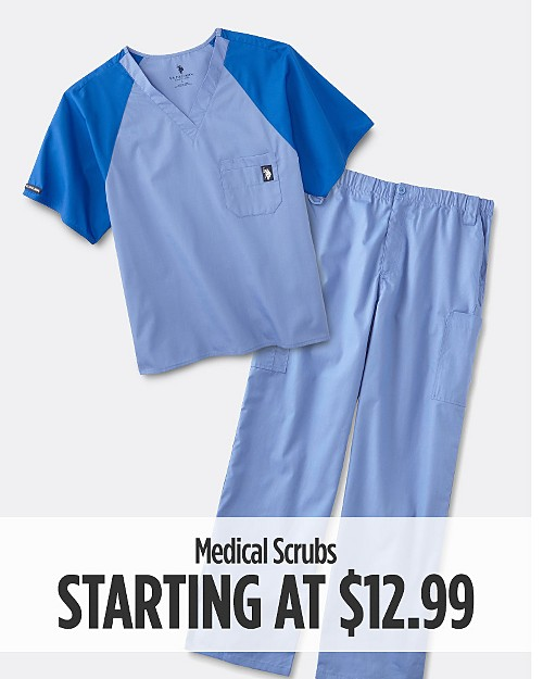 Medical Scrubs Starting at $12.99
