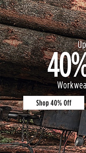Up to 40% off Workwear for Him. Shop 40% Deals