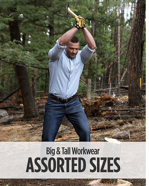 Assorted Sizes Big & Tall Workwear. Shop now