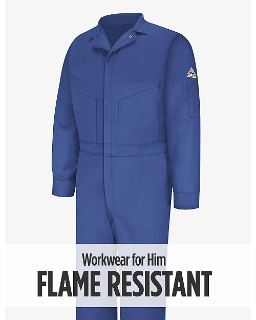 Flame Resistant Workwear for Him. Shop Now