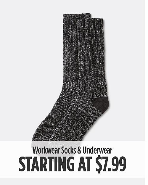 Workwear Socks & Underwear starting at $7.99