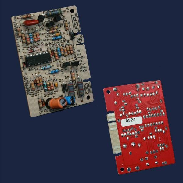 Washer temperature control board