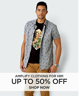 Up to 50% off Amplify clothing for him