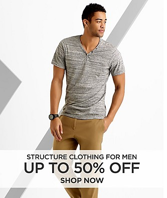 Up to 50% off Structure clothing