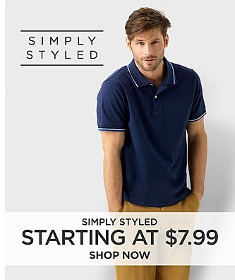 Simply Styled. Starting at $7.99