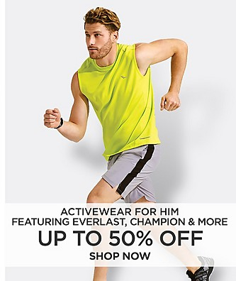 Up to 50% off Activewear. Featuring Everlast, Champion & More