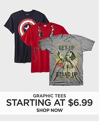 Graphic Tees starting at $6.99