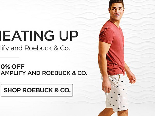 Up to 60% off Tops and Shorts for him from Amplify and Roebuck & Co. Shop Roebuck & Co.