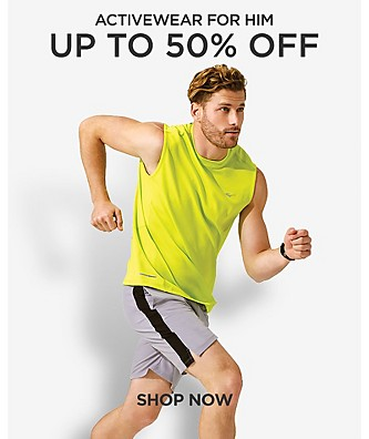 Up to 50% off Activewear for him