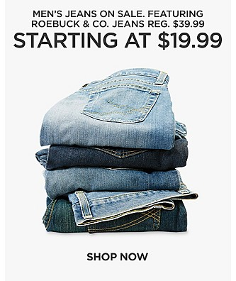 Men's Jeans on Sale. Featuring Roebuck & Co jeans, $19.99, reg $39.99 Shop Now