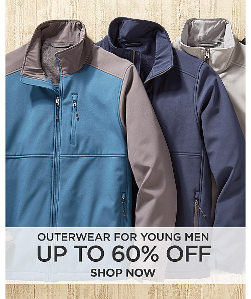 Up to 60% off outerwear for young men. Shop now