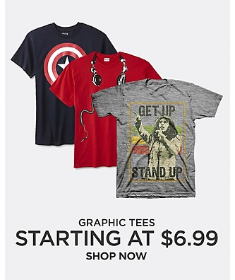Graphic Tees starting at $6.99. Shop Now