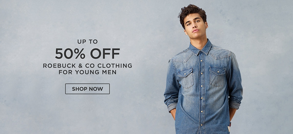 Up to 50% off Roebuck & Co Clothing for Young Men