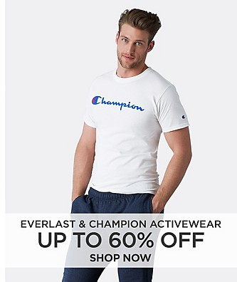 Up to 60% off activewear featuring Everlast & Champion. Shop Now
