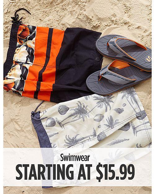 Swimwear Starting at $15.99