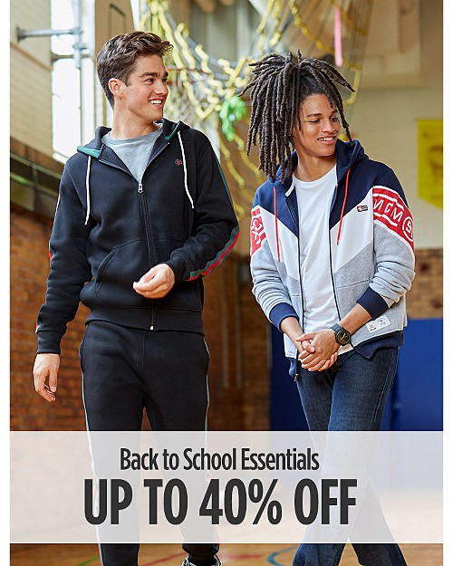 Up to 40% Off Back To School Essentials for Him