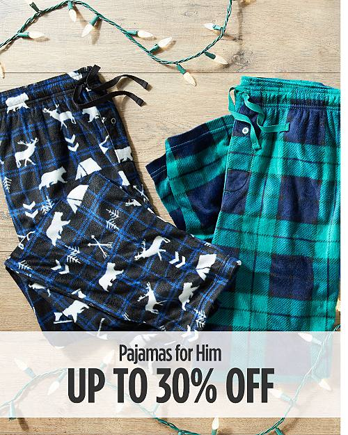 Up to 30% Off Pajamas for Him