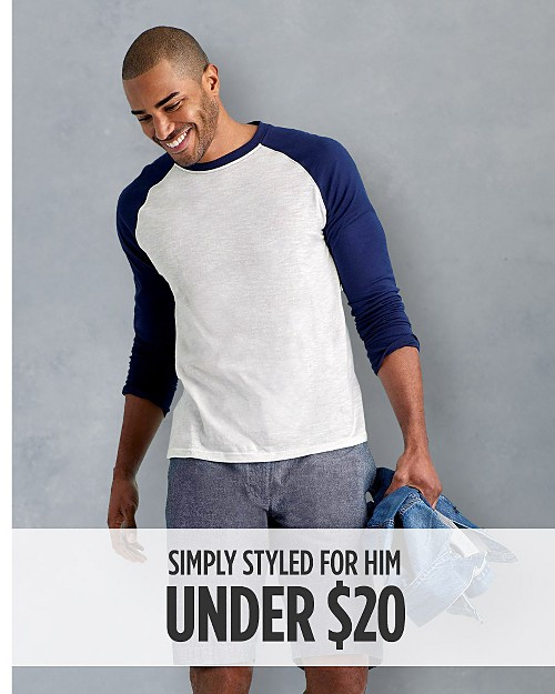 Simply Styled for Him Under $20. Shop now