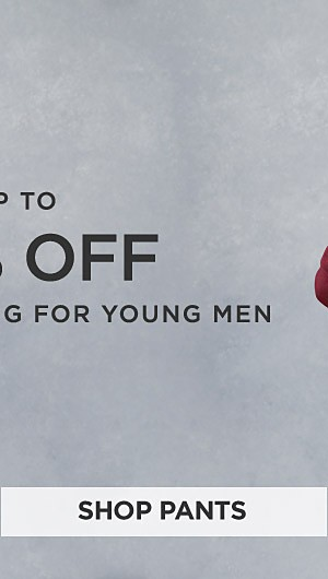Up to 70% off winter clothing for young men. Shop Pants