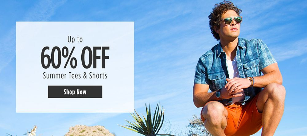 Up to 60% Off Summer Tees & Shorts For Him