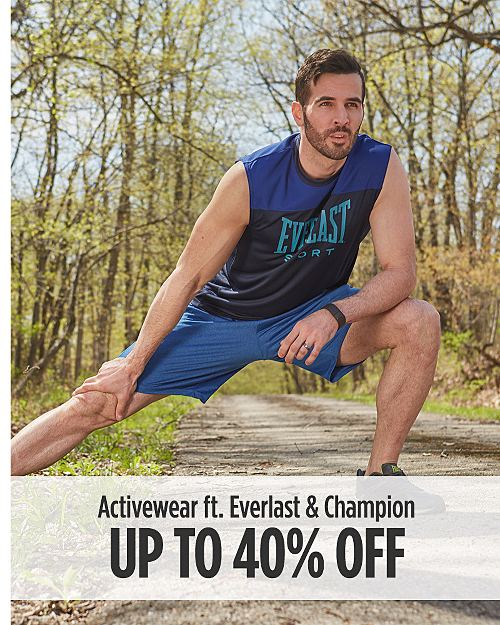 Up to 40% Off Activewear for Him ft. Everlast & Champion