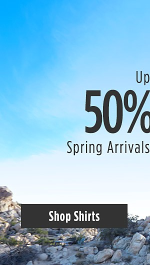Up to 50% off Spring Arrivals for Young Men. Shop Shirts