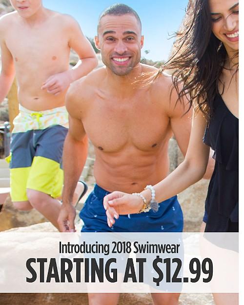 Introducing 2018 Swimwear Starting at $12.99. Shop Now