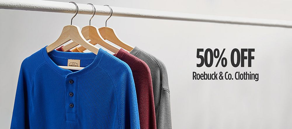 50% Off Roebuck & Co. Clothing