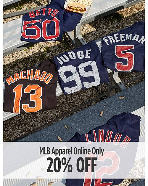 Online Only! 20% Off MLB Apparel