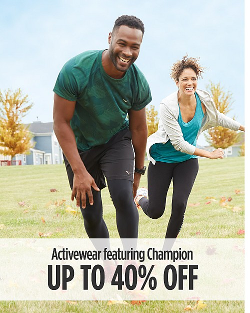 Up to 40% Off Activewear for Him featuring Champion