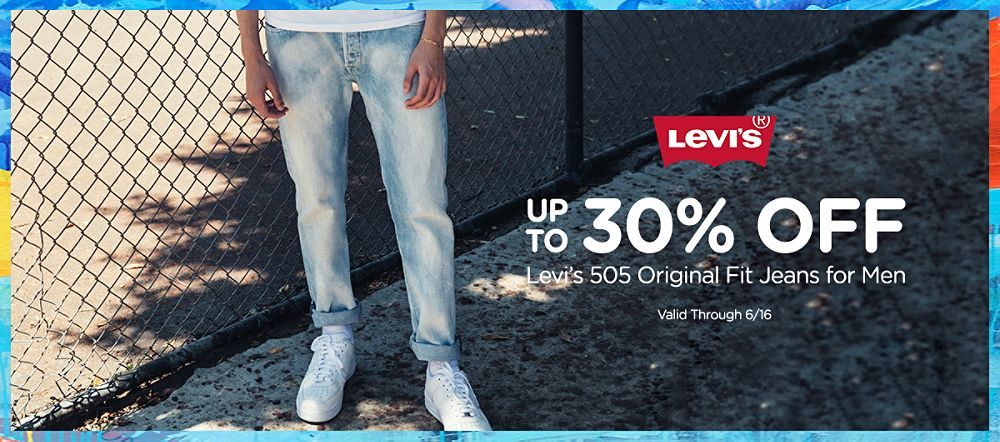 Up to 30% off | Levi's 501 Original fit jeans for men. (valid through 6/16)