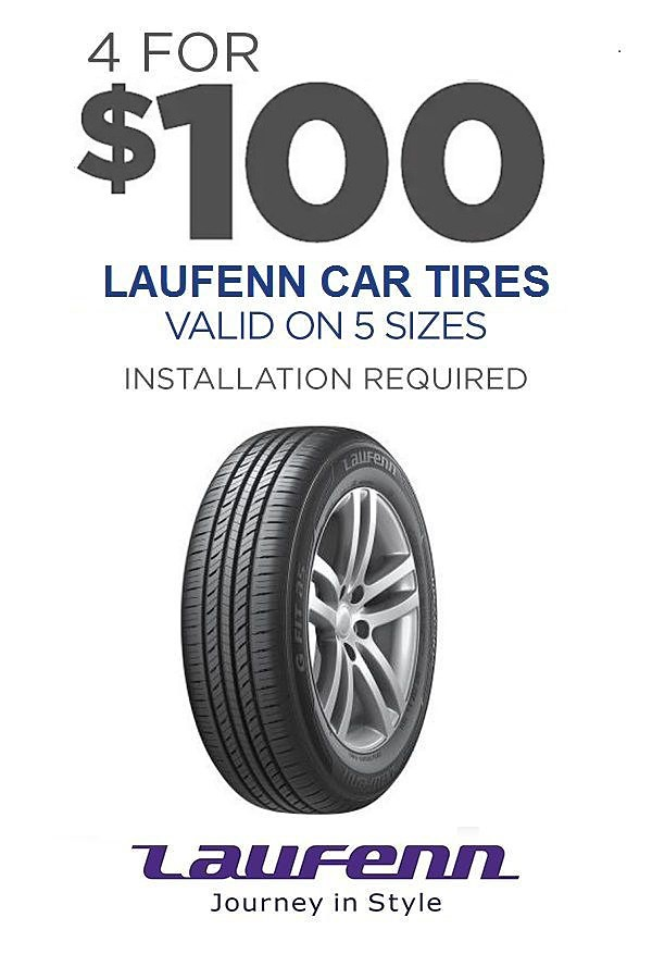 4 Laufenn tires for your car as low 4/$100 (installation required)