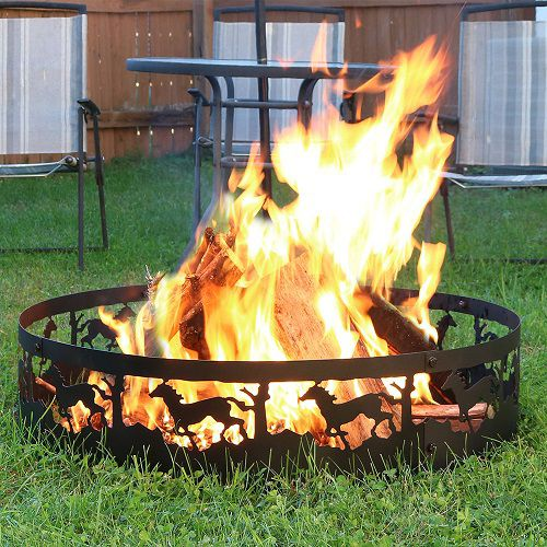 Clear an area for your fire pit