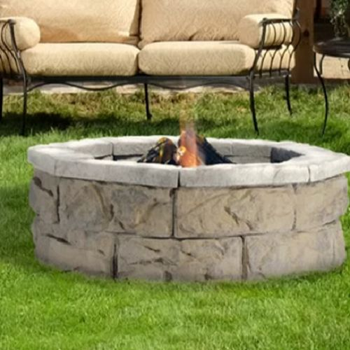 Lay a foundation for your fire pit