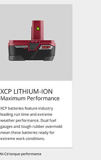 XCP Lithium-Ion Maximum Performance