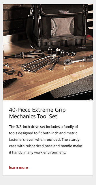40-Piece Extreme Grip Mechanics Tool Set