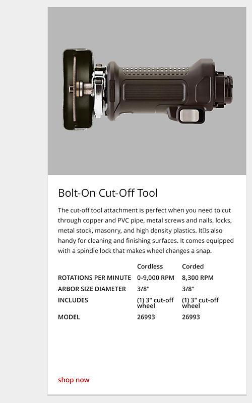 cut-off tool
